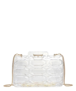 Urban Expressions Rexha Clutch Crossbody Bag 22785 CLEAR