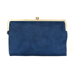 Urban Expressions Vegan Leather Sandra Clutch Purse 23792 - Navy