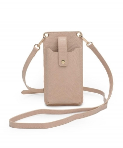 Urban Expressions Claire Cellphone Crossbody Bag 24028 NUDE