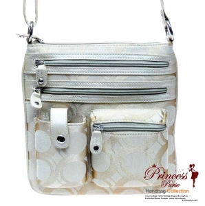 Designer Inspired Pattern Messenger bag w/ Cell Phone pocket and Zipper Pockets in Front