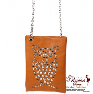 Designer Inspired Leatherette Owl Design w/ Rhine Stone and Stud Decoration