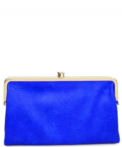 Urban Expressions Faux Leather Wallet Sandra Metal hardware Complements Classic Style 7287A-UR  Electric Blue