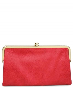 Urban Expressions Faux Leather Wallet Sandra Metal hardware Complements Classic Style 7287A-UR  Scarlet red