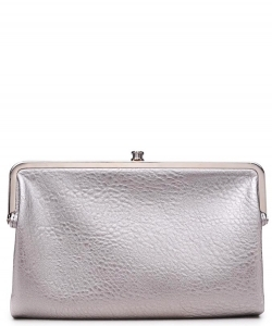 Urban Expressions Faux Leather Wallet Sandra Metal hardware Complements Classic Style 7287A-UR  SILVER