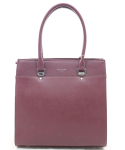 Classic women's bag DAVID JONES 5852-2 BURGANDY