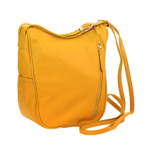 Faux Leather Hobo Bag 25111 - Mustard