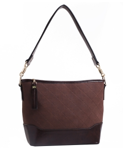 Two Tone Fashion Handbag For Women Top Handle Satchel Bag EW2117 COFFEE/COFFEE
