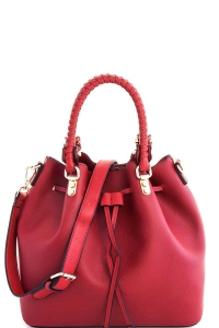 2in1 Cute Modern Princess Satchel with Long Strap T-2439 RED