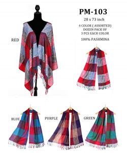 Plaid Infinity Scarf PM103 A Dozen pack