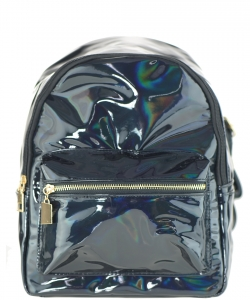Multi-Color Fashion  Backpack BP6605 BLACK