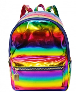 Multi-Color Fashion  Backpack BP6605 MULTI