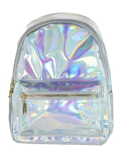 Multi-Color Fashion  Backpack BP6605 SILVER
