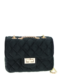 Quilted Velvet Cute Mini Crossbody Satchel F6696-5