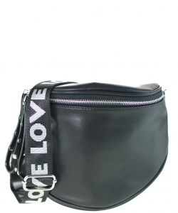 Elegant Print Fashion Fanny Pack Waist Bag F5288 BLACK