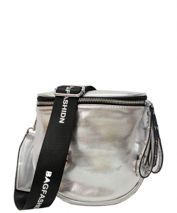 Elegant Print Fashion Fanny Pack Waist Bag F5288 SILVER