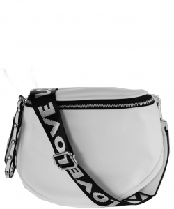 Elegant Print Fashion Fanny Pack Waist Bag F5288 WHITE