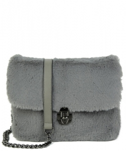 Push-lock Crossbody Bag TT708 GREY