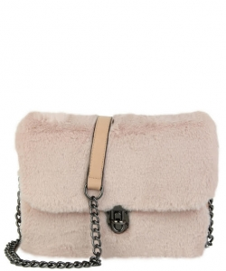 Push-lock Crossbody Bag TT708 PINK