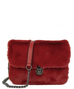Push-lock Crossbody Bag TT708 RED