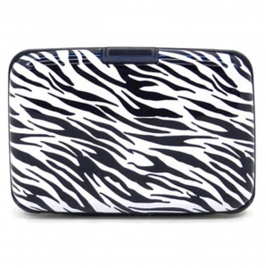 Aluminum Credit Card Case 25441 X22 Zebra
