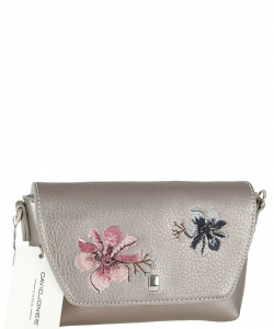 Women Bag From Eco-Leather David Jones CM4066 D.SILVER
