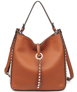 OLIVIA Pebbled Vegan Leather 16068 COGNAC