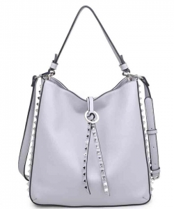 OLIVIA Pebbled Vegan Leather 16068 GREY