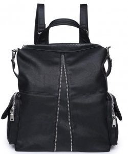 DALLAS Smooth Vegan Leather 18139 BLACK