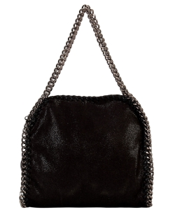 Fashion Chained Designer Satchel with Chain GF6630 BLACK