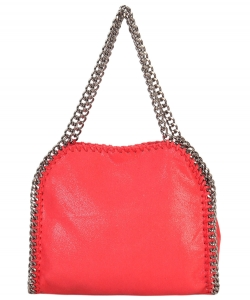 Fashion Chained Designer Satchel with Chain GF6630 CORAL