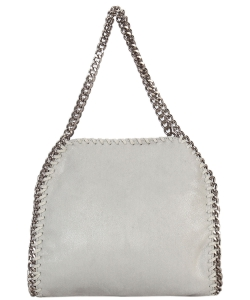 Fashion Chained Designer Satchel with Chain GF6630 GREY