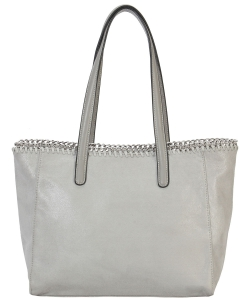 Fashion Chained Designer Satchel with Chain GF6633 GREY