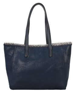 Fashion Chained Designer Satchel with Chain GF6633 NAVY