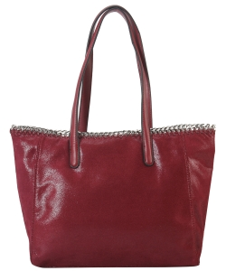 Fashion Chained Designer Satchel with Chain GF6633 WINE