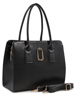 Fashion Handbag For Women Top Handle Satchel Bag ES1707 BLACK