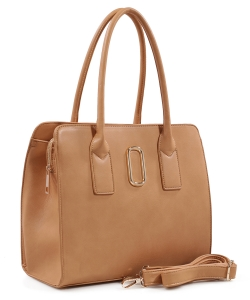 Fashion Handbag For Women Top Handle Satchel Bag ES1707 TAN