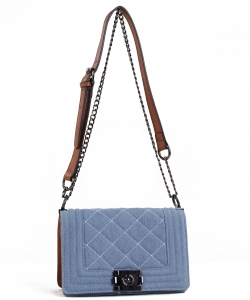 Cute Fashion Designer Chic Cross body  Bag OS2206 BLUE