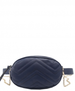 Designer Trendy Cross Body Waist Bag  N0633 NAVY