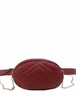 Designer Trendy Cross Body Waist Bag  N0633 RED