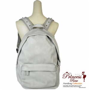 Super Stylish Faux Leather Backpack w/ Spike Accent