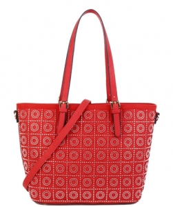 Rhinestone Studded Handbag S811 RED