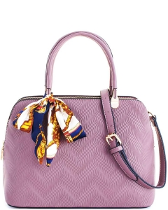 Cute Princess Domed Satchel with Silky Scarf L1189 DARK PINK