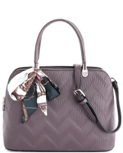 Cute Princess Domed Satchel with Silky Scarf L1189 GRAY