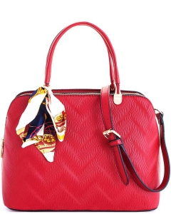 Cute Princess Domed Satchel with Silky Scarf L1189 RED