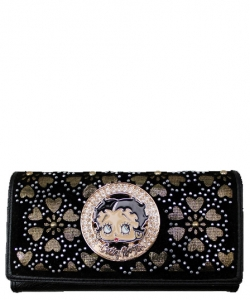 American Favorites KFW-904  Betty Wallet BLACK