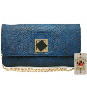 UE Original Design Faux Snake Skin Clutch - Sunset (2486)