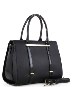 Guinness Patent Leather Bag US3123 BLACK