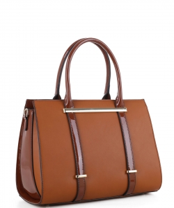 Guinness Patent Leather Bag US3123 BROWN