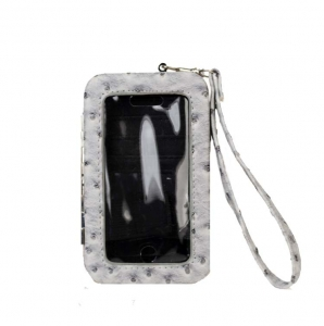 Designer Inspired Faux Ostrich Leatherette Wallet/ Iphone 4/4s Case