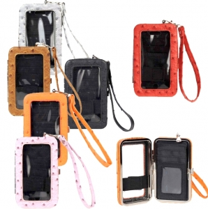 6 Piece Bulk Buy! Designer Inspired Faux Ostrich Leatherette Wallet/ Iphone 4/4s Case